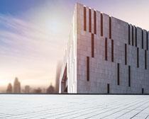 城市图书馆建筑景观PSD素材