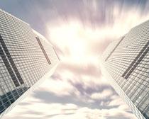 商业城市办公建筑大楼PSD素材