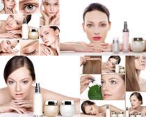 化妆品与美女拍摄高清图片