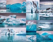 冰川海水風景攝影高清圖片
