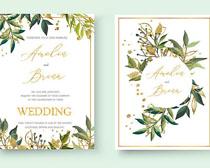 婚礼花束贺卡设计矢量素材