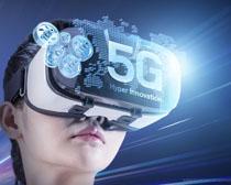 5G科技眼镜展示PSD素材
