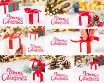 國外圣誕節禮物盒子攝影高清圖片
