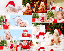 國外可愛寶寶圣誕節日拍攝高清圖片