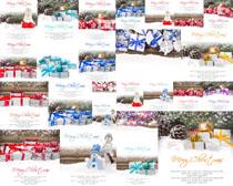 圣誕節禮物雪花攝影高清圖片