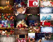 圣诞球礼物装扮写真拍摄高清图片