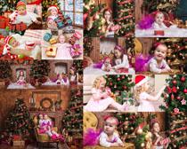 圣诞节开心小美女写真拍摄高清图片