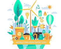 环保创新爱护环境插画矢量素材