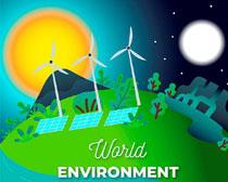 环境地球卡通绘画矢量素材