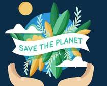 关爱环境植物地球矢量素材