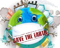 保护地球环境绘画矢量素材