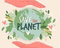 爱护地球环境宣传矢量素材