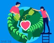 绿色地球环境矢量素材