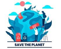 地球概念环保卡通矢量素材