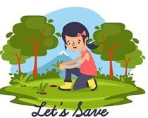 卡通环境植物森林矢量素材