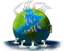 地球污水处理环境矢量素材