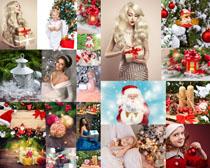 圣诞人物与装扮礼物拍摄高清图片