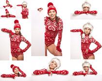 圣诞服装美女写真摄影高清图片
