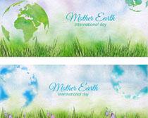 植物生态横幅环保矢量素材