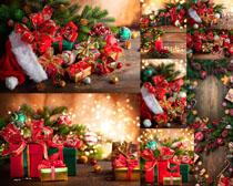 圣誕節裝扮禮物展示攝影高清圖片