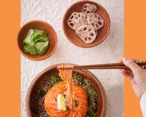 韩国拌面小菜展示PSD素材