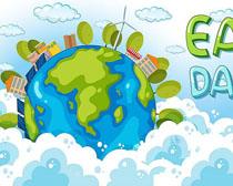 环保地球日宣传海报矢量素材