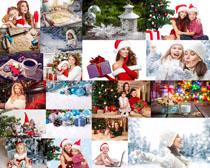 一起过圣诞的国外人们摄影高清图片