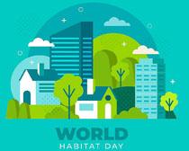 环境城市建筑风景矢量素材