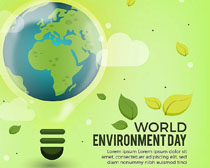 地球环保灯泡封面设计矢量素材
