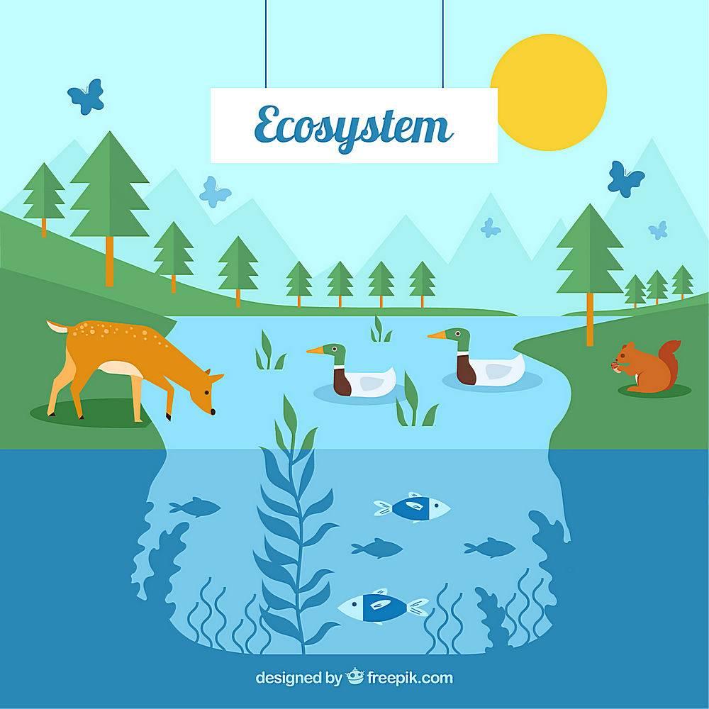 动物森林卡通生态矢量素材