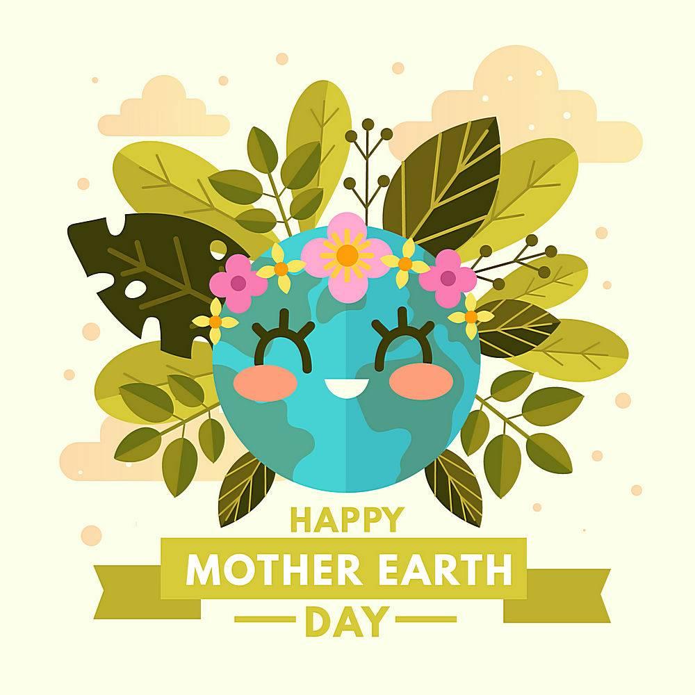 植物绿化地球环保矢量素材