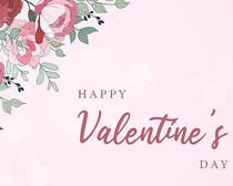 玫瑰花情人节封面背景矢量素材