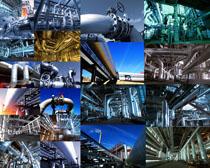 工业管道建设摄影高清图片
