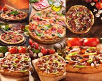 国外披萨美食展示摄影高清图片