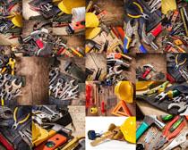 工人工具展示拍摄高清图片