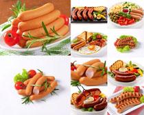 火腿与西红柿食物摄影高清图片