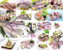 洋葱与带鱼食物摄影高清图片
