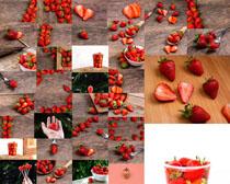 新鲜草莓展示摄影高清图片