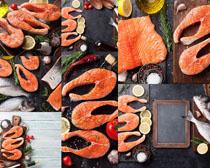 三文鱼海鲜美食拍摄高清图片