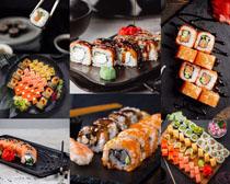日本美食寿司展示拍摄高清图片