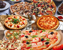 披萨海鲜肉类美食摄影高清图片