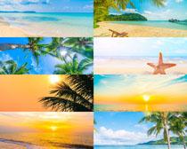 美麗沙灘大海風光攝影高清圖片