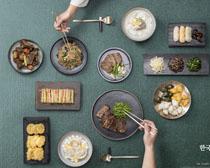 韓國菜譜美食展示PSD素材