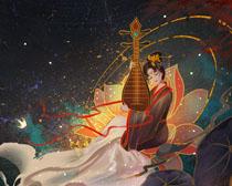 中国艺术女神绘画PSD素材
