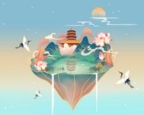 中国风国潮艺术绘画PSD素材