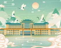 中国风古典建筑PSD素材