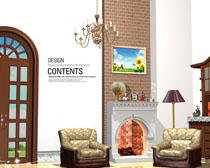 高档家具风格展示PSD素材