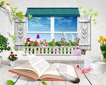 阳台花园装修风格PSD素材