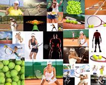 网球运动男女摄影高清图片