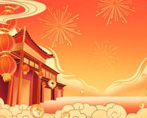 喜庆中国年文化传统PSD素材